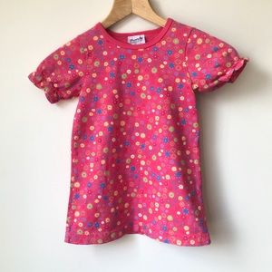 NEW Flapdoodles Puffed Sleeves Tee Floral Dress